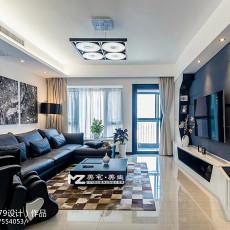 2018面积118平现代四居客厅欣赏图片