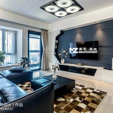 现代时尚客厅电视背景墙装修图片