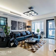 精美118平方四居客厅现代装修设计效果图