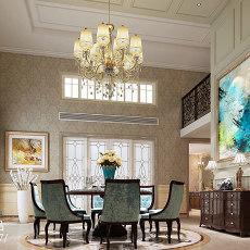 精美面积123平别墅餐厅欧式装饰图片