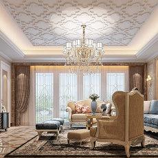 面积118平别墅客厅欧式装修设计效果图片欣赏