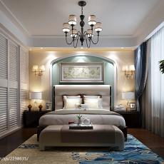 精美面积93平美式三居卧室装修设计效果图