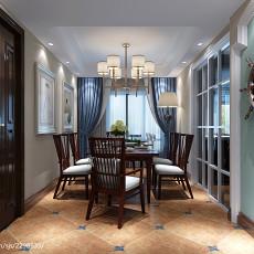 96平米三居餐厅美式装修欣赏图片