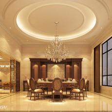精美118平米新古典别墅餐厅效果图片欣赏