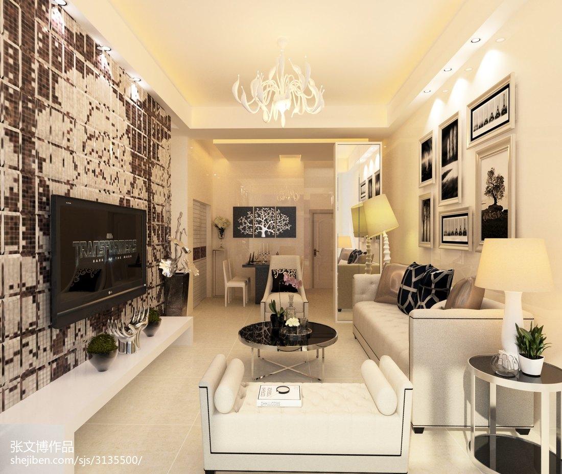热门欧式小户型客厅欣赏图片