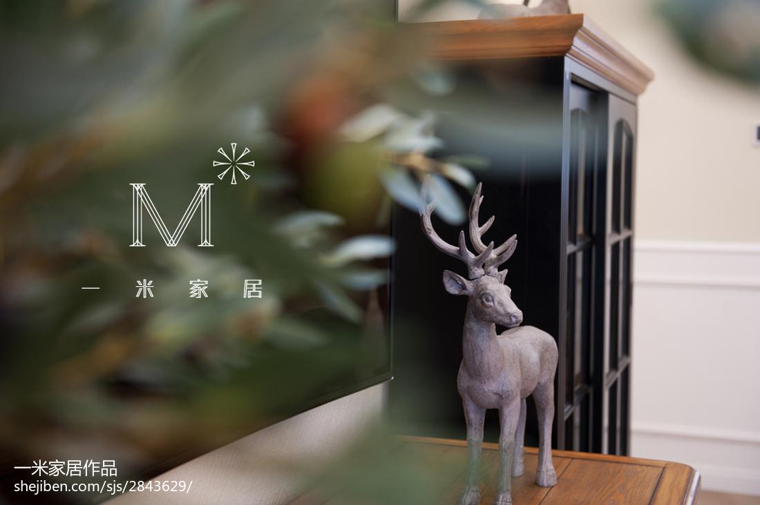2018精选123平米四居客厅美式效果图