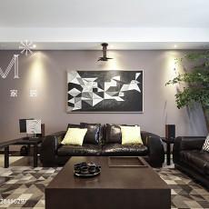 2018精选大小98平现代三居客厅装修实景图