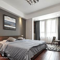 热门面积101平现代三居卧室欣赏图片