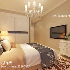 面积105平现代三居卧室效果图片欣赏