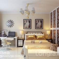 大小107平现代三居卧室装修效果图片欣赏