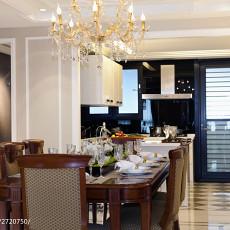 热门面积102平欧式三居餐厅效果图片