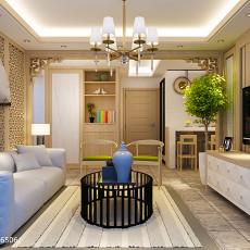 201890平米二居客厅中式装修实景图片大全