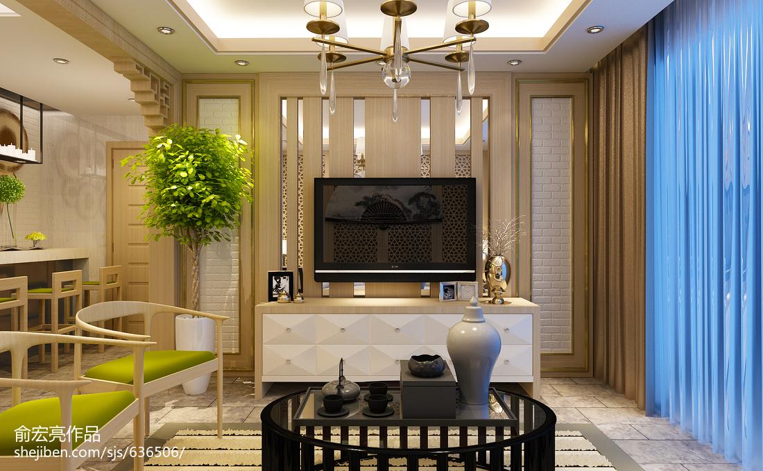 精美二居客厅中式实景图片