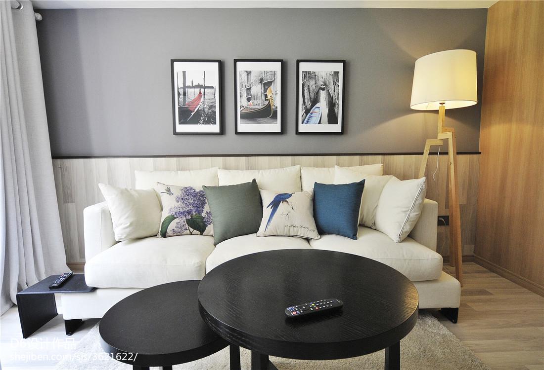 2018面积74平小户型客厅现代装饰图片大全