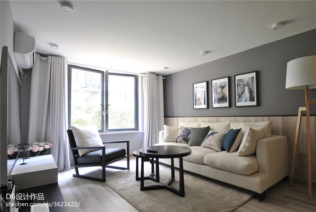 热门79平米现代小户型客厅装饰图