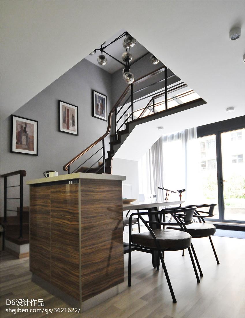 热门面积88平小户型餐厅现代装修效果图