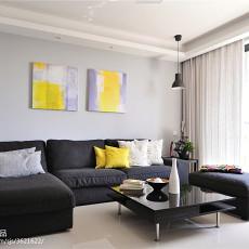 2018精选面积71平现代二居客厅装修效果图