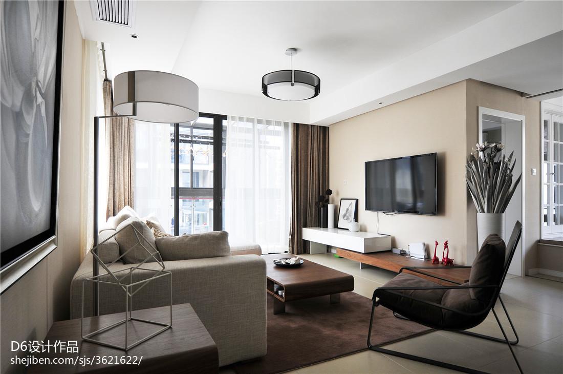 精美大小101平现代三居客厅装修实景图