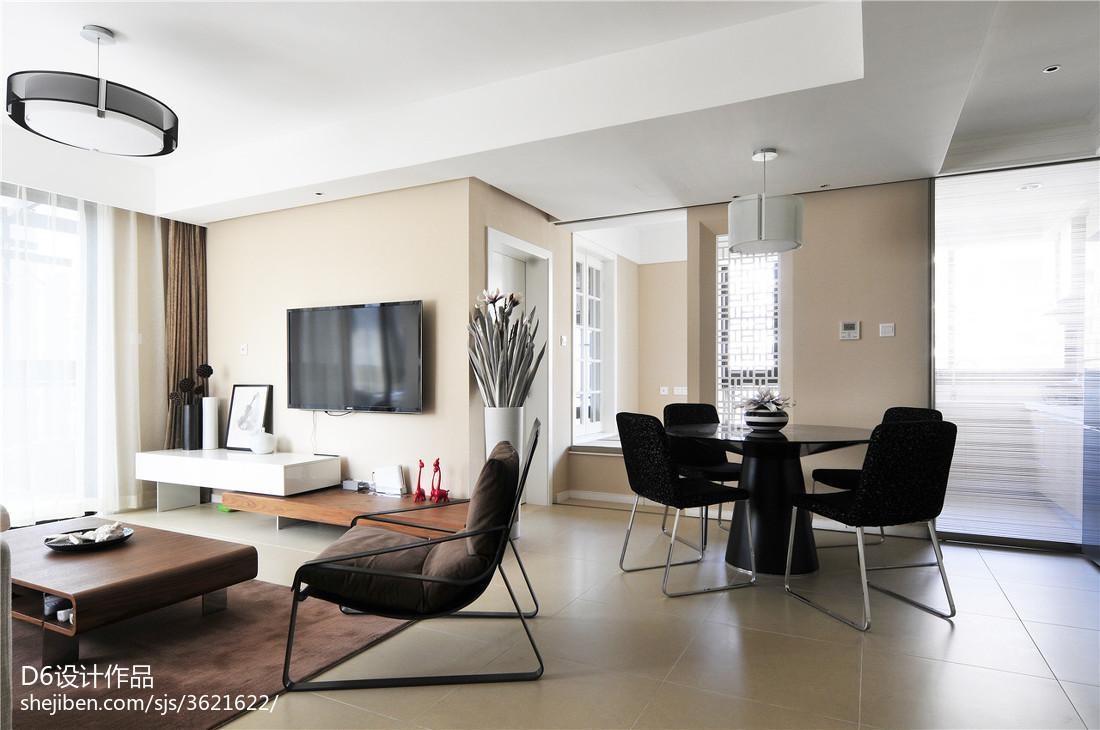 精美大小97平现代三居客厅装修实景图片