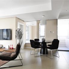 2018105平方三居客厅现代实景图