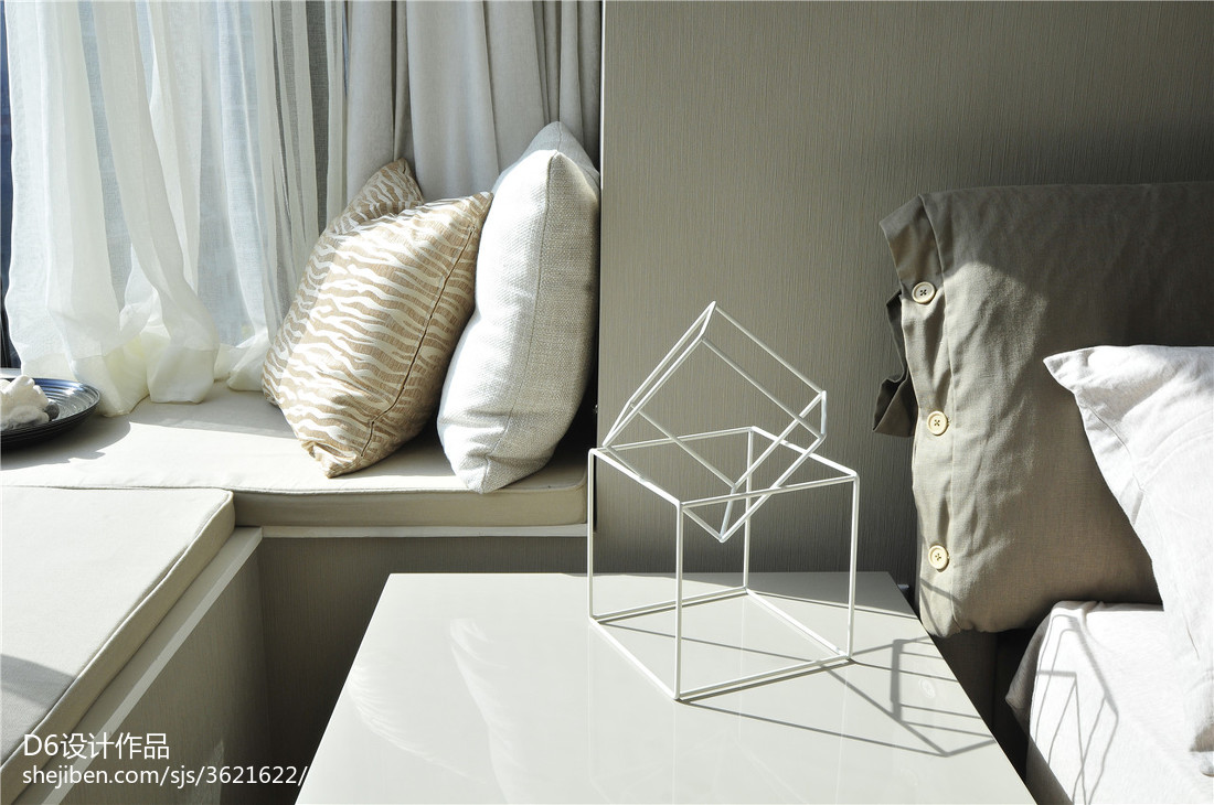 2018精选面积108平现代三居卧室装修效果图片
