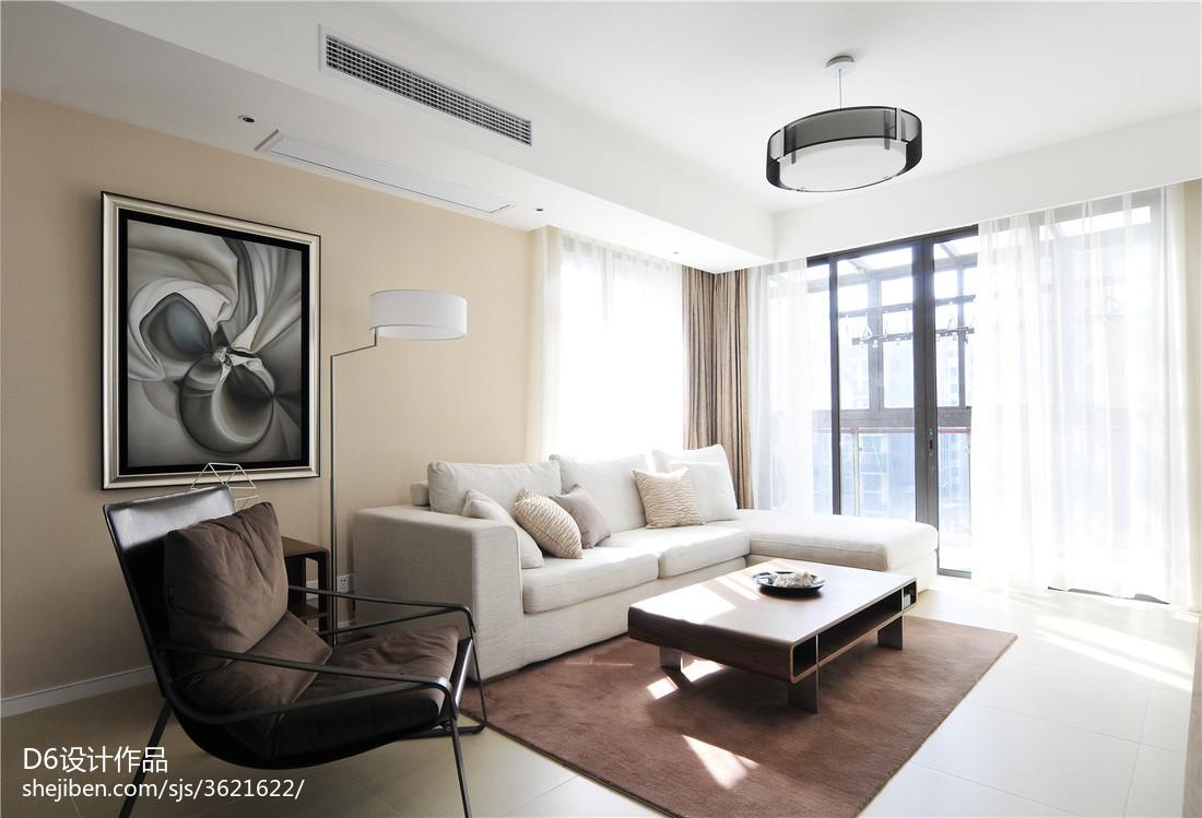 精美104平方三居客厅现代实景图