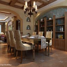 精选93平米三居餐厅美式装修图片