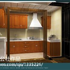 108平米三居厨房欧式装修图片欣赏