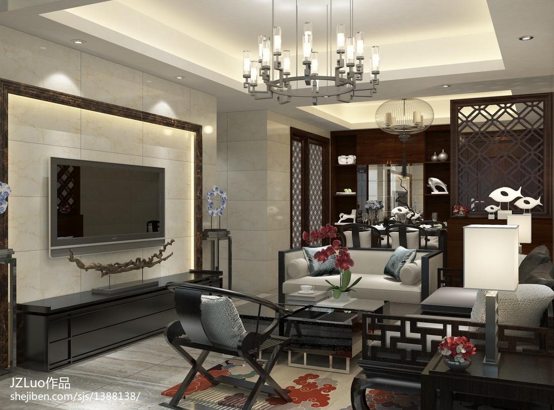 精美面积94平中式三居装饰图片欣赏