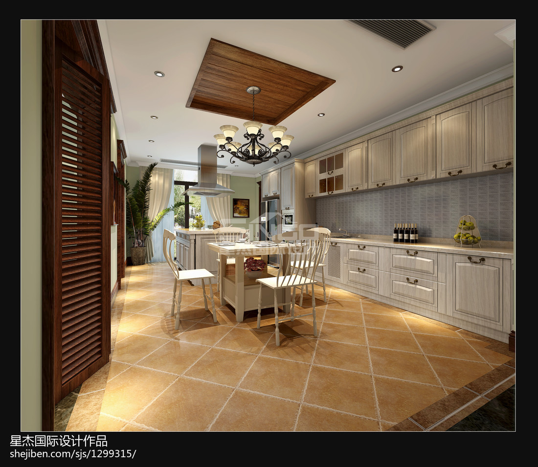 精美143平米美式别墅厨房效果图