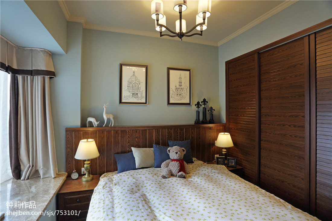 精选二居卧室美式装修图片大全