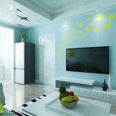 72平米现代小户型客厅装修欣赏图片