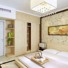 热门105平米三居卧室中式装饰图片