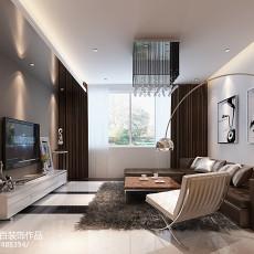 精选92平大小客厅三居现代装修实景图片欣赏