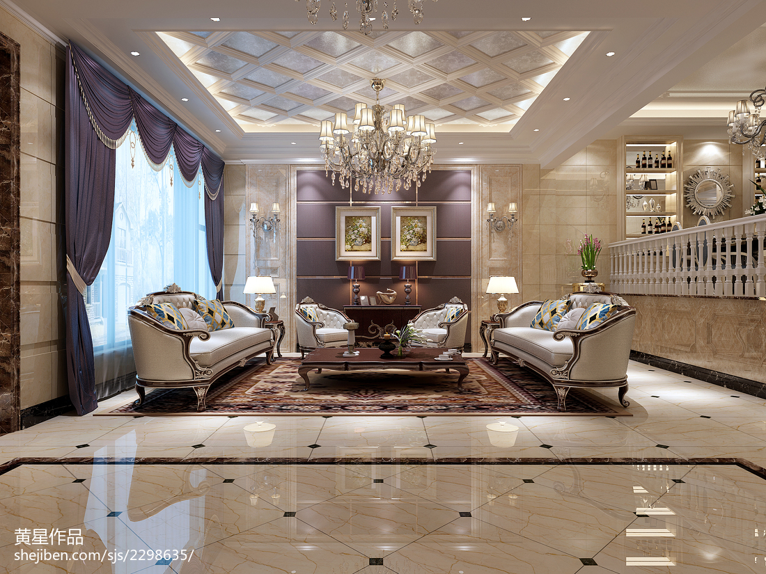精选130平米欧式别墅客厅装修实景图片大全