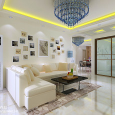2018大小99平现代三居客厅装修设计效果图片大全