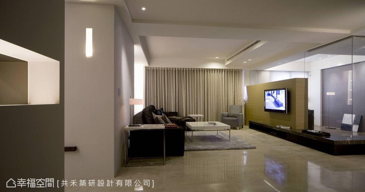 2014现代客厅电视背景墙效果图