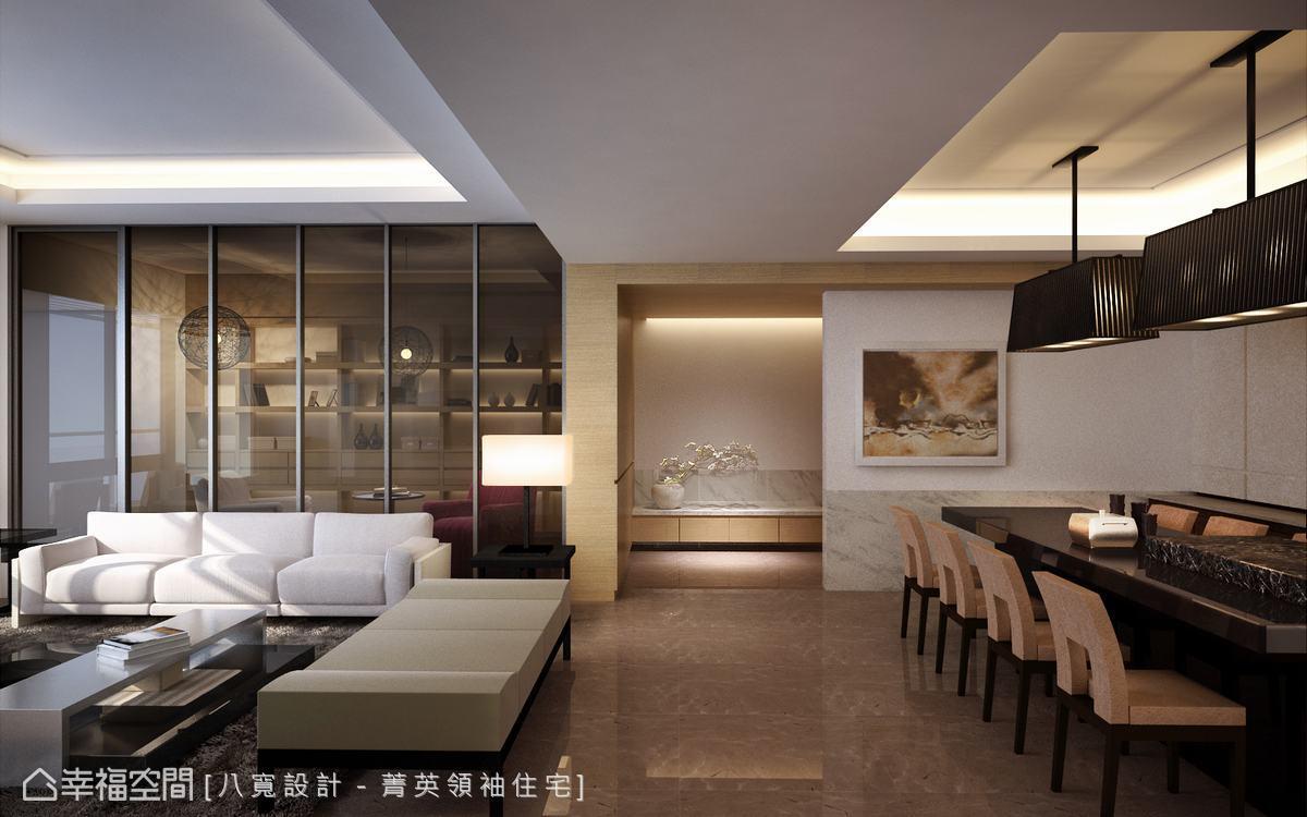 清新中式餐厅背景设计图片