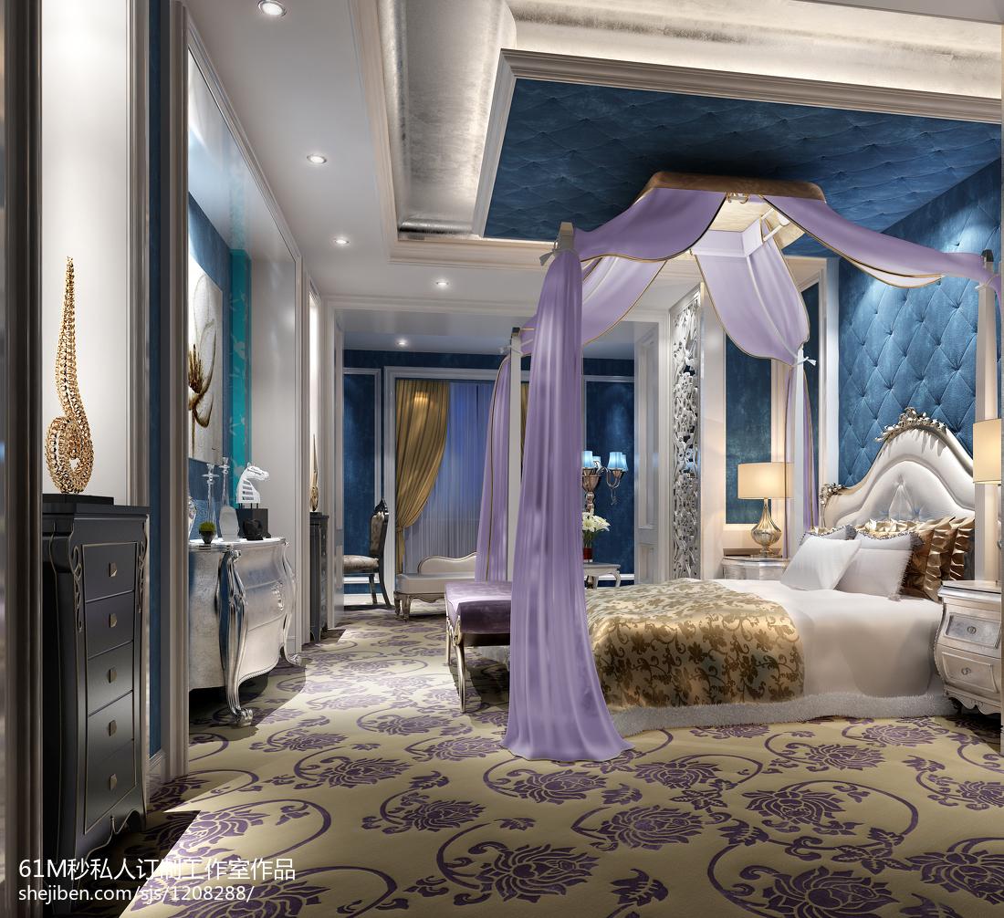 紫色欧式卧室