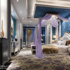 热门126平米四居卧室欧式装饰图片大全