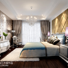 精美面积128平欧式四居卧室装修实景图片大全