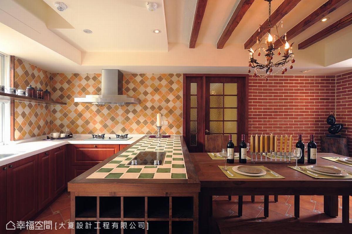 美式田园风格别墅餐厅设计