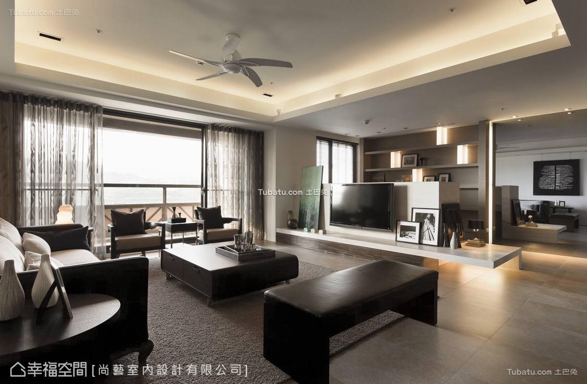 中式禅客厅设计图