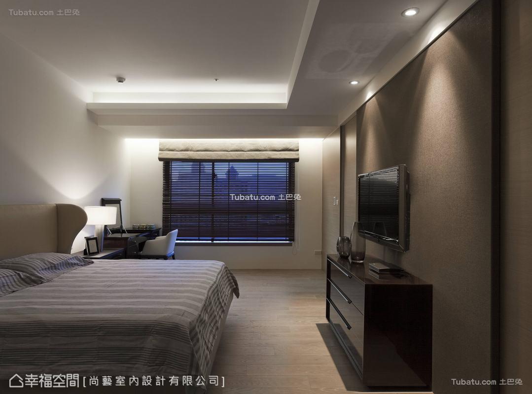 中式禅卧室图