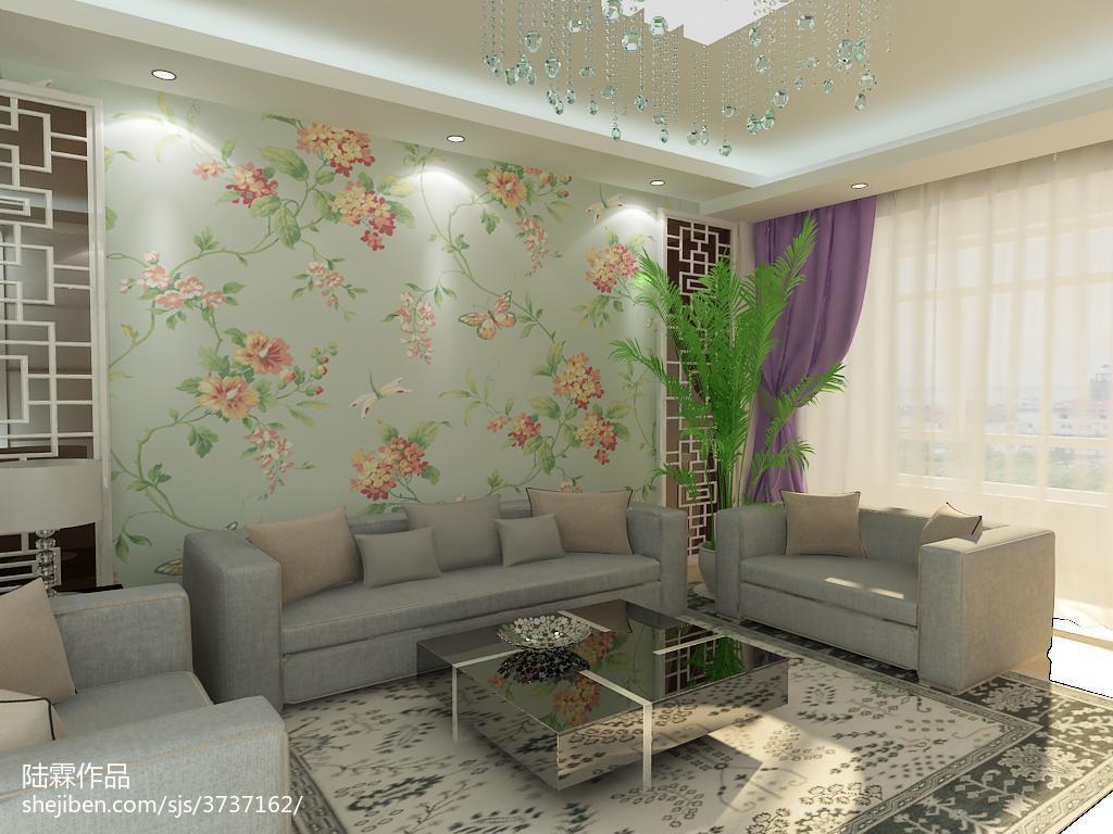 精美面积82平混搭二居客厅设计效果图