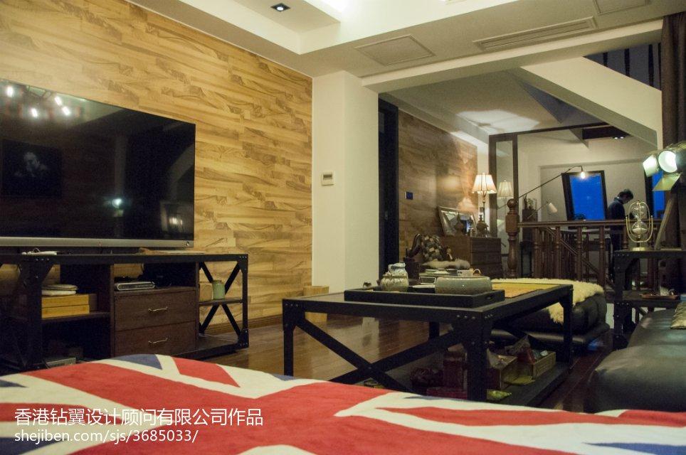 精选111平米现代复式客厅实景图片欣赏