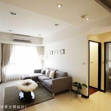 现代简约30平米客厅装修效果图