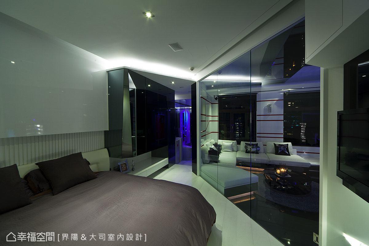 后现代室内客厅相片墙