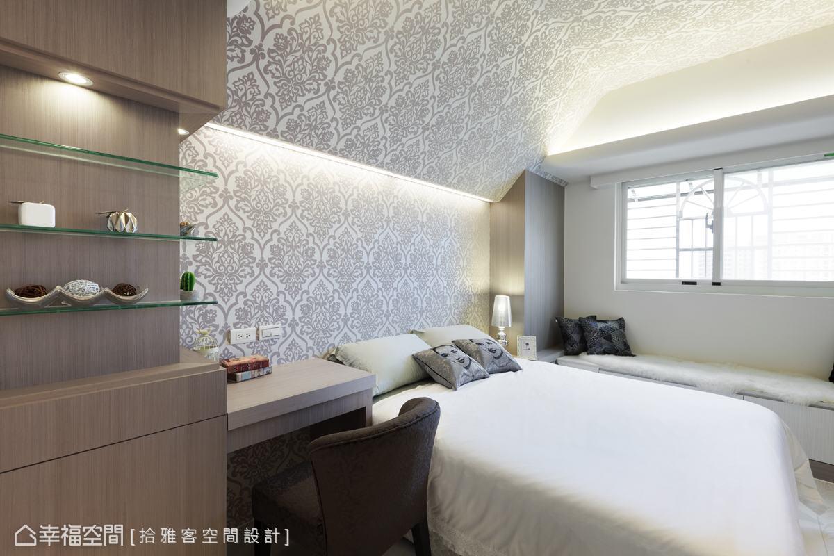 现代卧室床头背景效果图
