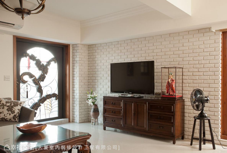 中式风格家装电视背景墙效果图
